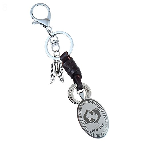 Heaven2017 Alloy Constellation Keychain Key Ring - (Pisces) ()