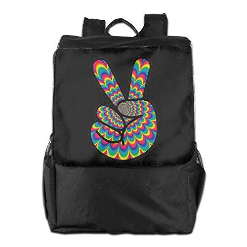 College Men Hippie Peace Psychedelic Backpack Bookbag Laptop Travel School Women CqAg4wF