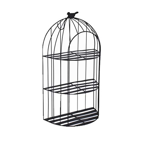 Birdcage Plant Stand - LSLMCS Flower Stand Metal Plant Stand Wall Rack Bird Cage Wall Hanging Ornament Storage Rack,Shelf for Multiple Plants