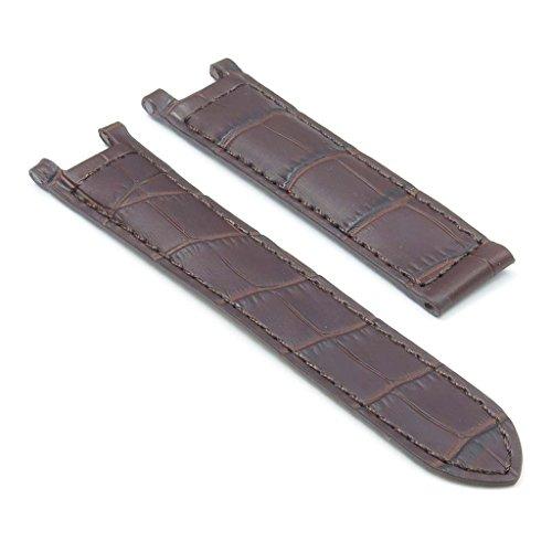 DASSARI London Crocodile Embossed Leather Strap for CARTIER - Pasha De Cartier Watch Band