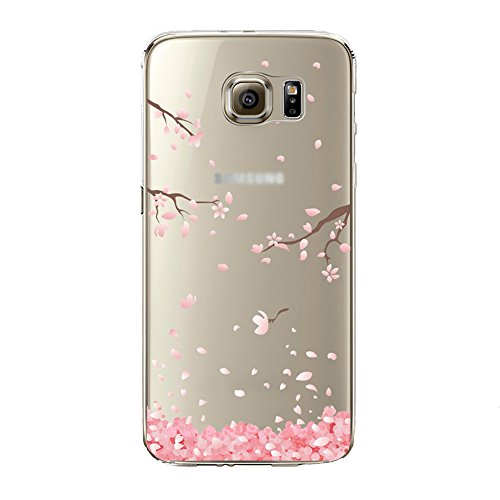 Price comparison product image Urberry Galaxy S5 Case, S5 Soft Case, Spring Flower Case Cover for Samsung Galaxy S5 with a Free Screen Protector