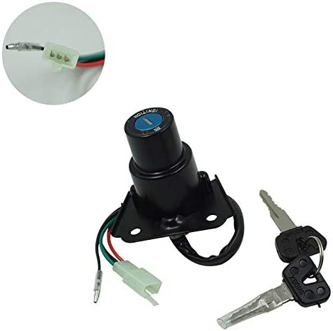 Ghost thorn Motorcycle Ignition Lock And Fuel Cap Gas Key Cover Set Compatible with For Yamaha XV250 250 2UJ 3DM XV125 4RF