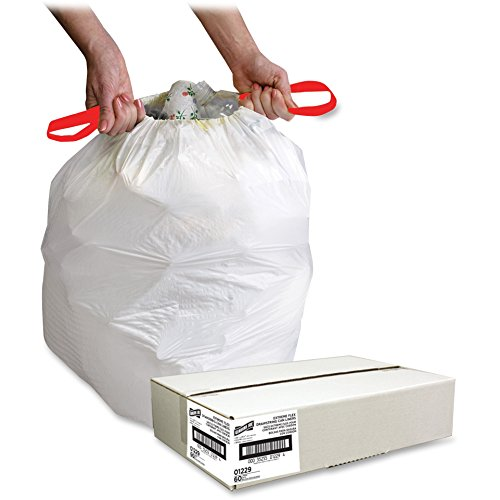 ng Trash Can Liner - Trash Bag - 16 gal - 24amp;quot; x 25.12amp;quot; - 0.9mil Thickness - Resin - 60 / Box - White ()