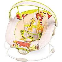 Cadeira De Descanso Musical E Vibratória Girafa Amarela, Mastela, Bege, Médio