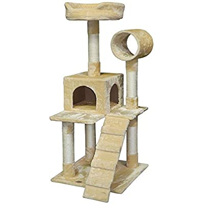 Go Pet Club 50-Inch Cat Tree Condo Scratching Post Pet Bed Furniture