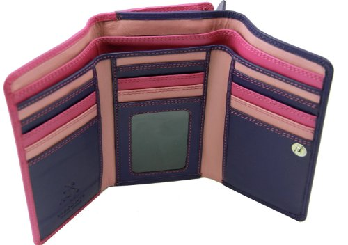 visconti-rb43-multi-colored-berry-purple-dusty-trifold-leather-ladies-girls-wallet-purse