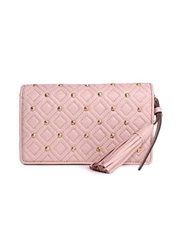 Tory Burch Fleming Stud Flat Wallet Cross-Body (Goan sand)