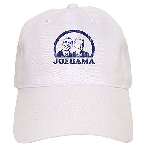 CafePress Joebama (Vintage Faces) Baseball Cap with Adjustable Closure, Unique Printed Baseball Hat White
