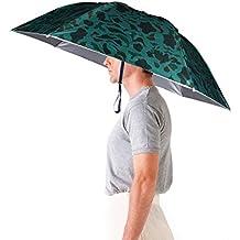 Luwint 36'' Diameter Adjustable Fishing Gardening Folding Umbrella Hat Headwear (Camouflage)
