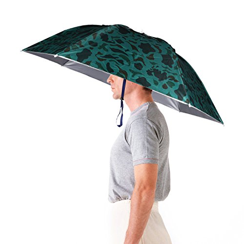 "Luwint 36"" Diameter Adjustable Fishing Gardening Folding Umbrella Hat Headwear (Camouflage)"