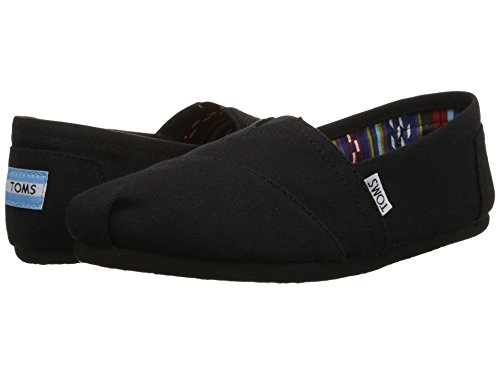 TOMS Womens Classic Slip-Ons Black/Black 8.5 B(M) US