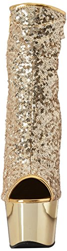 Pleaser 1008sq Gold Adore Chrome Sequins gold OOq6vcrw