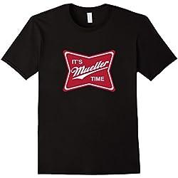 Mens It's Robert Mueller Time T-Shirt Small Black