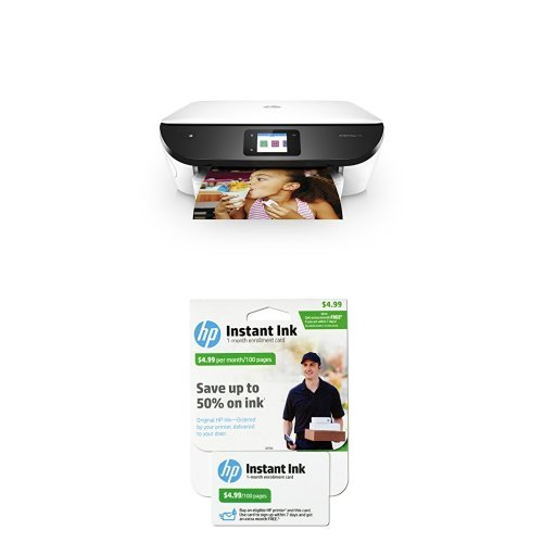 HP ENVY Photo 7155 All in One Photo Printer with Wireless Printing, Instant Ink ready - White with Instant Ink