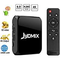 JYDMIX Android TV Box 1GB Ram 8GB Rom With 2.4G WiFi Ethernet and USB Port Supporting 4K Ultra HD/H.265/3D,Video Picture Music Player/Make Your TV Android