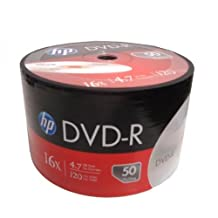 100 Pack HP 16X Logo Blank DVD-R DVDR Recordable Disc Media 4.7GB Shrink Wrapped