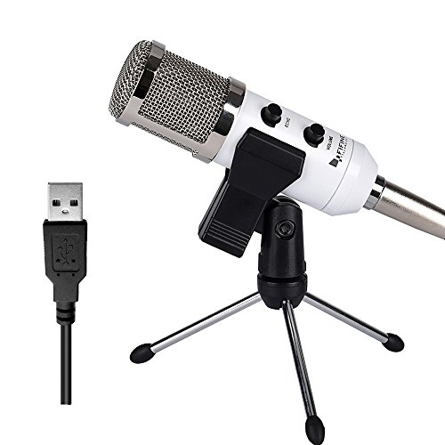 USB Condenser Mic Fifine Plug & Play Desktop Microphones For PC/Computer(Windows, Mac, Linux OX), Podcasting, Recording-White(K056) by FIFINE TECHNOLOGY (Image #1)