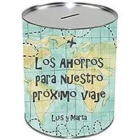 Hucha Personalizada Viaje/Regalo Original/San Valentín/Pareja/Enamorados/Aniversario/Cumpleaños/Novio/Novia