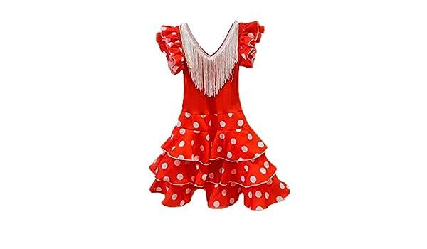 DISBACANAL Vestido andaluza para niña - Único, 24 Meses ...