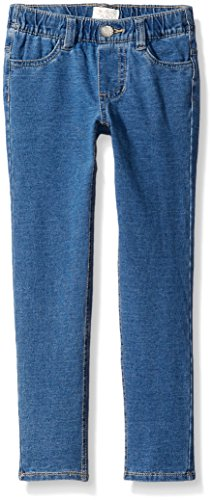 The Children's Place Little Girls' Knit Denim Jegging, Blue Mist Wash, 5 by The Children's Place
