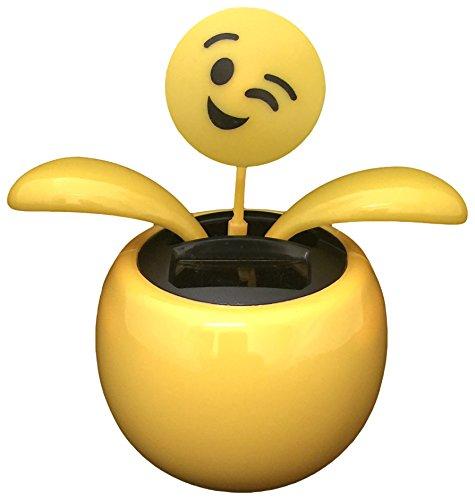 8-9 Yellow Solar Smiley Face (Face Bobble Head)