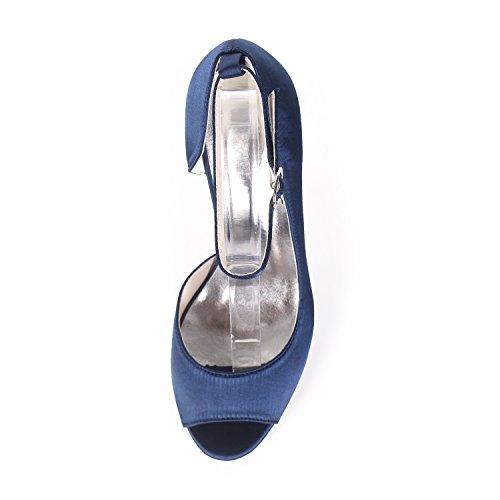 Caviglia Raso yc Alla L E Plateau Da Silver In Cinturini Scarpe Donna Sposa Con Z66q4wf7