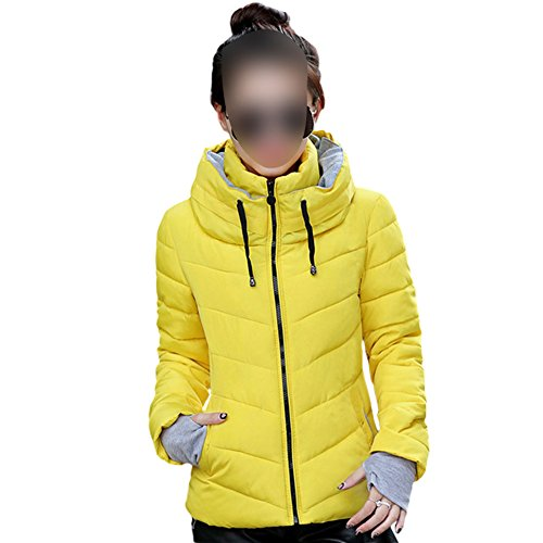 Puffer Outwear Stand Meijunter Collar Lightweight Women Yellow Packable Coats Down Casual Jackets IvvwZqr8
