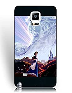 Samsung Galaxy Note 4 Funda Case, Beauty and the Beast Cartoon Samsung Galaxy Note 4 Funda Case Drop Resistant Phone Cover