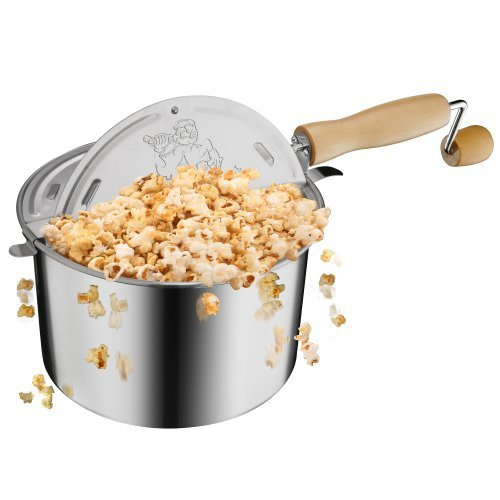 Great Northern Stainless Steel Stove Popcorn Popper