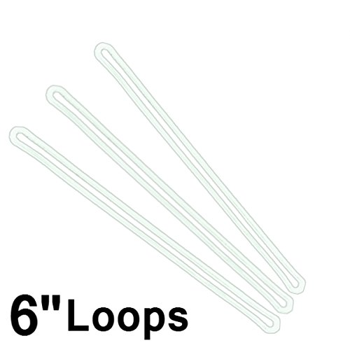 Luggage Tag Holders - 6 Inch Premium Clear Plastic Luggage Loop Straps / Worm Loops for Luggage Tags, by Specialist ID (100 Pack + Bonus)