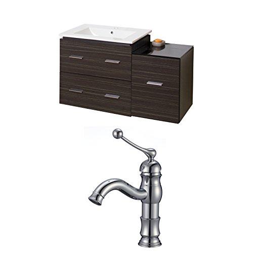 "delicate Jade Bath JB-9329 38"" W x 18"" D Plywood-Melamine Vanity Set with Single Hole CUPC Faucet, Dawn Grey"