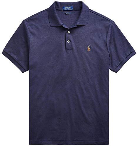 Polo Ralph Lauren Men Medium Fit Interlock Polo Shirt SpringNavyHtr, M (Best Ralph Lauren Polo Shirts)