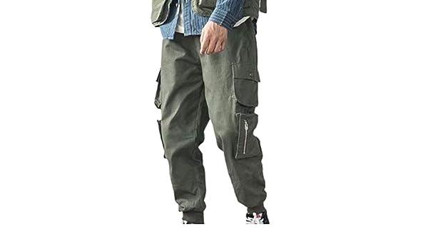 Oberora-Women Casual Camo Print Multi Pockets Slim Fit Haren Cargo Pants