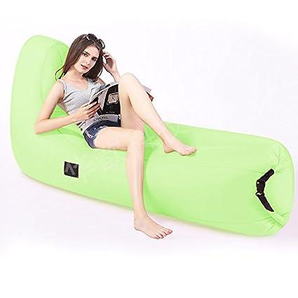 Amazon.com: ZXDBK Sofá cama de aire, Camping dormir portátil ...