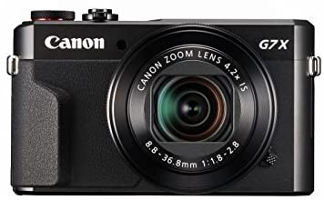 Canon PowerShot Digital Camera [G7 X Mark II] with Wi-Fi & NFC, LCD Screen, and 1-Inch Sensor – Black, 100 – 1066C001