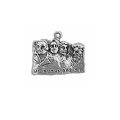 (Sterling Silver Mount Rushmore National Memorial South Dakota Charm Item #1133)