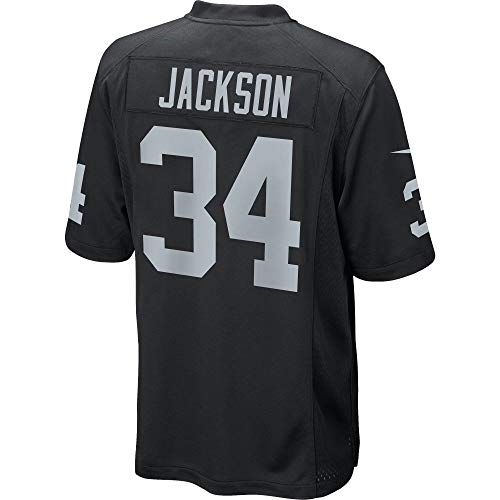 Men's/Women's/Youth_Oakland_#34_Bo_Jackson_Black_Game_Jersey