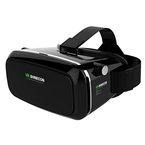 Shinecon VR Headset Virtual Reality 3D Glasses 3D Viewing Glasses with Pupil Focal Distance Adjustable Suitable for Google/iPhone/Samsung Note/LG/Huawei/HTC/Moto Screen (VR SHINECON1.0)