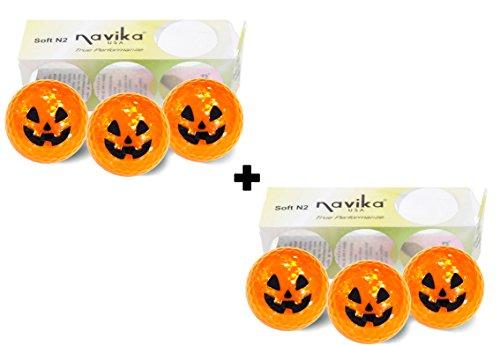 Golf Balls- Halloween Pumpkin Metallic COMBO (2 PACK) by Navika