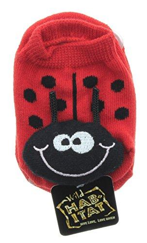 (Wild Habitat Baby no-slip socks, Size: 6-18 Months - Lady Bug)