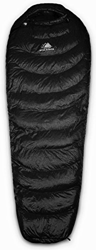 Ultralight Mummy Down Sleeping Bag - 15 Degree 4 Season, Lightweight Design for Backpacking, Thru Hiking, and Camping - Under 2 lbs 14 oz w/ Compression Sack (Black, Regular) (Black, Regular) (Diamond Fleece Blanket)