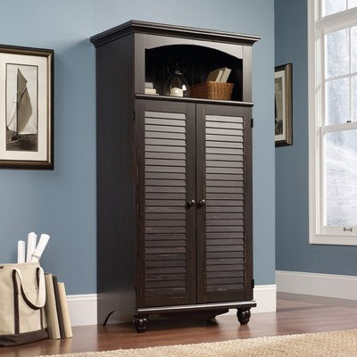Pinellas Armoire Desk In Dark Walnut Brown Finish