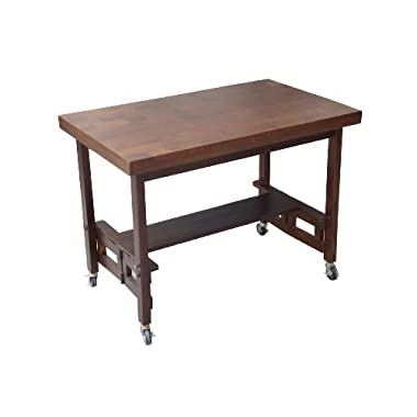 Oasis Concepts All Wood Folding Serving Buffet/Dining Table, Walnut