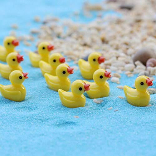 (Figurines & Miniatures - 10 Pcs Miniature Mini Yellow Duck Resin Crafts Garden Home Plants Decoration - Blanks Pendant Pigment Castin Miniatures Hardener Clear Craft Resin Fairy Molds Charms )