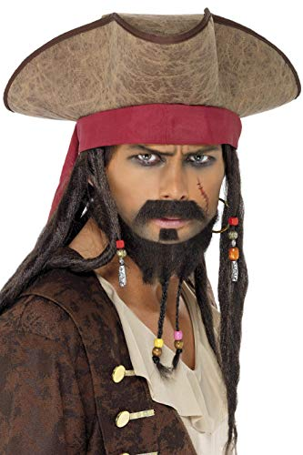 Pirate Hat with Dreadlocks Costume Accessory -