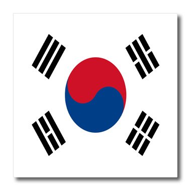 Price comparison product image 3dRose ht_28259_2 South Korea Flag-Iron on Heat Transfer for White Material, 6 by 6-Inch