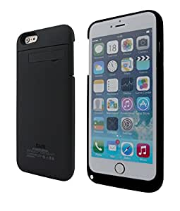 """iPhone 6 Plus Power Battery Case 5.5"""" by Phone Charger Case (Authorized Seller - Portable Solar Shop) (Black)"""