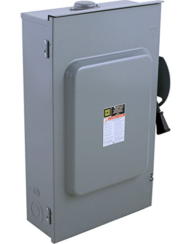 - Square D by Schneider Electric D324NRB 200-Amp 240-volt 3-Pole Fusible Outdoor General Duty Safety Switch