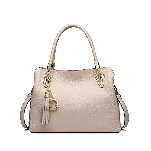 Memoria femminile delle donne Tote Bag a pacchetto diagonale per borsa nera a spalla con atmosfera semplice Borse a tracolla Borsa a tracolla Totes (Colore : Bianca) Bianca
