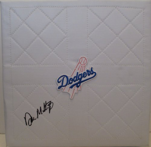 Los Angeles Dodgers Don Mattingly Autographed Hand Signed Full Size LA Dodgers Logo Base with Proof Photo of Signing and COA